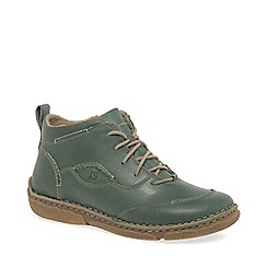 Josef Seibel - Green leather 'Neele 34' women's ankle boots