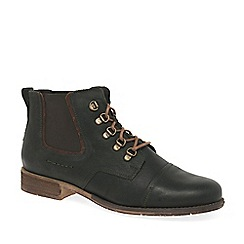 Josef Seibel - Olive leather 'Sienna 09' flat lace up ankle boots