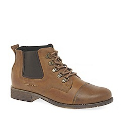 Josef Seibel - Brown leather 'Sienna 09' lace up ankle boots