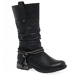 Rieker - Black 'Endless Womens' flat calf length boots
