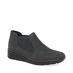 Rieker - Grey 'Festive' low heeled chelsea boots