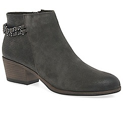 Marco Tozzi - Grey 'Carla' mid heeled ankle boots