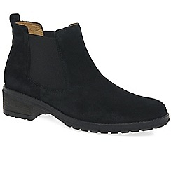 Gabor - Black suede 'Brilliant' womens chelsea boots