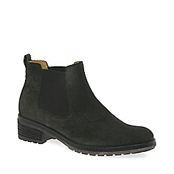 Gabor - Bottle green suede 'Brilliant' womens chelsea boots