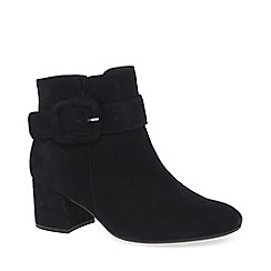 Gabor - Black suede 'Capri' womens mid heeled smart ankle boots
