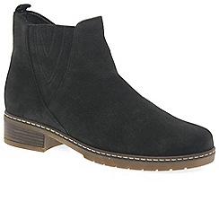 Gabor - Dark grey suede 'Dorothy' womens flat Chelsea boots