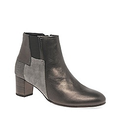 Gabor - Metallic leather 'Nuthatch' womens mid heeled ankle boots