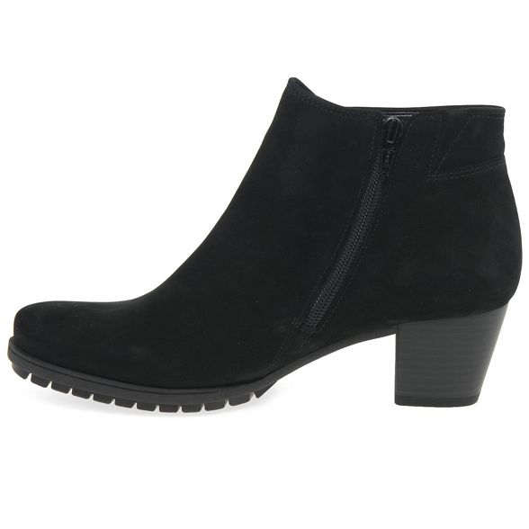 Black nubuck boots ankle mid Gabor 'Olivetti' heeled SdfS7