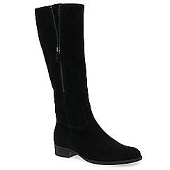 Gabor - Black nubuck 'Crunch' mid knee high boots