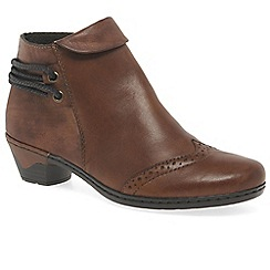 Rieker - Brown leather 'Harper' low heeled ankle boots