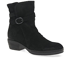Fly London - Black suede 'Cimp' mid heeled ankle boots