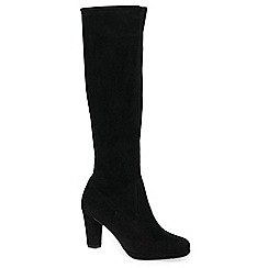Peter Kaiser - Black suede 'Celina' high heeled knee high boots
