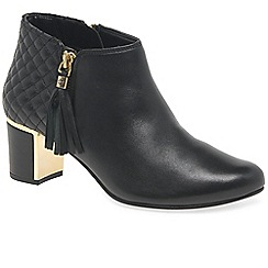 Van Dal - Black leather 'Arial III' high heeled ankle boots