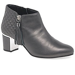 Van Dal - Grey leather 'Arial III' high heeled ankle boots
