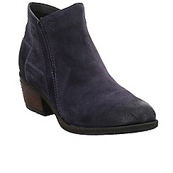 Josef Seibel - Dark blue suede 'Daphne 09' mid heeled ankle boots