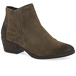 Josef Seibel - Taupe suede 'Daphne 09' mid heeled ankle boots