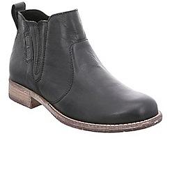 Josef Seibel - Black leather 'Sienna 45' womens flat chelsea boots