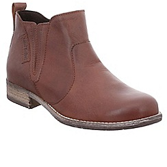 Josef Seibel - Camel leather 'Sienna 45' womens flat chelsea boots