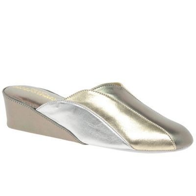 Relax - Metallic 'Glamour' Womens Unlined Mule Slippers