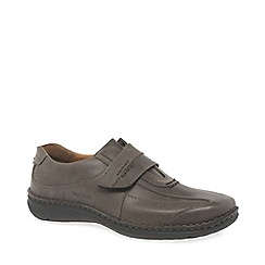 Josef Seibel - Dark brown leather 'Alec' casual shoes