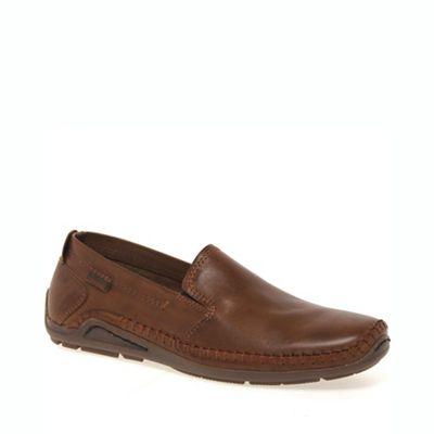 Pikolinos - Tan driven mens casual slip on shoes