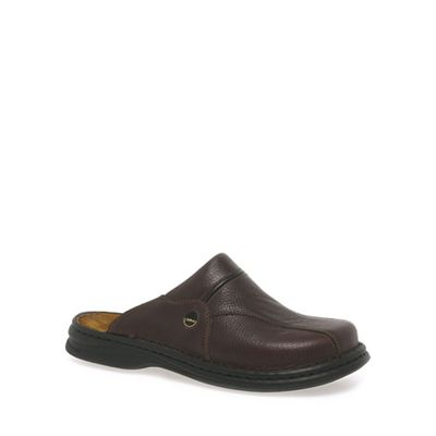 19f75dbb85c6e9 Josef Seibel Brown Klaus Leather Mules