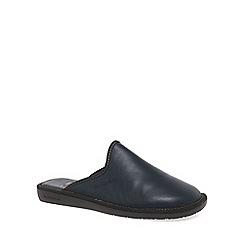Nordikas - Navy 'Norwood III' Mens Leather Slippers