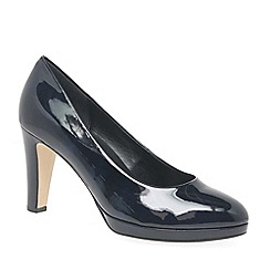 Gabor - Navy patent 'Splendid' high heeled court shoes