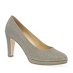 Gabor - Metallic 'splendid' womens dress court shoes