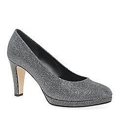 Gabor - Silver 'Splendid' high heeled court shoes