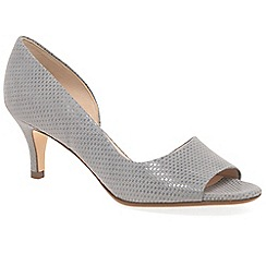 Peter Kaiser - Grey 'Jamala II' womens open toe court shoes