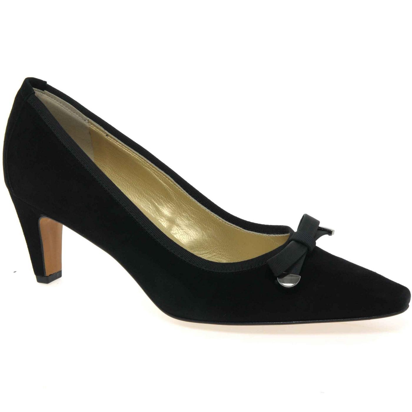 Peter Kaiser Black Maira Womens Suede Dress Court Shoes