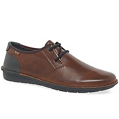 Pikolinos - Brown leather 'Santiago' lace up casual shoes