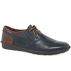 Pikolinos - Dark blue leather 'Santiago' lace up casual shoes