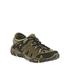 Merrell - Brown 'All Out Blaze Sieve' Mens Hiking Shoes