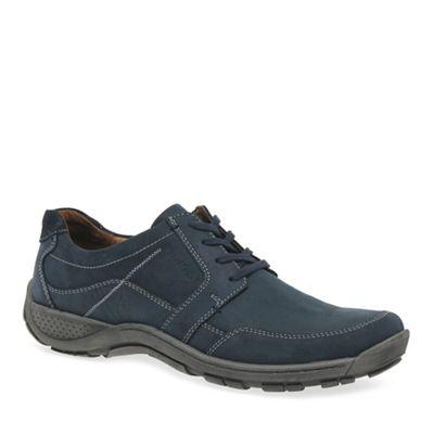 Josef Seibel - Dark blue leather 'Nolan 32' casual lace up shoes