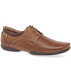 Pikolinos - Brown leather 'Rapport' casual lace up shoes