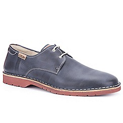 Pikolinos - Navy leather 'Ubeda' lace up casual shoes