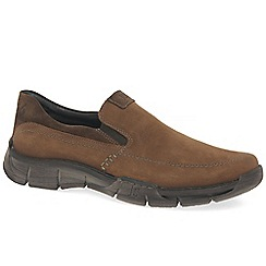 Josef Seibel - Brown nubuck 'Phil 07' slip on shoes