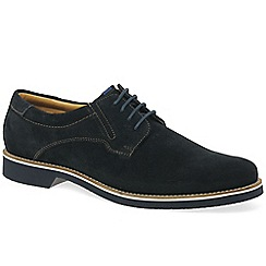 Bugatti - Dark blue suede 'Tern' casual lace up shoes