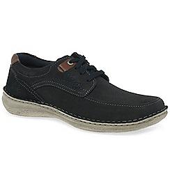 Josef Seibel - Dark blue nubuck 'Anvers 75' lace up casual shoes