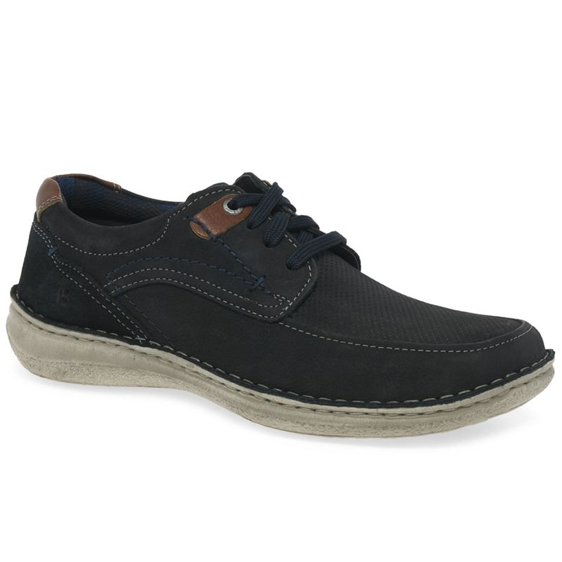 Josef Seibel - Dark Blue Nubuck Anvers 75 Lace Up Casual