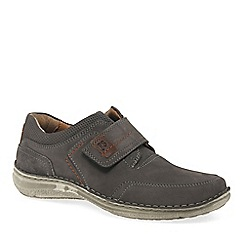 Josef Seibel - Grey nubuck 'Anvers 83' extra wide casual shoes