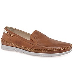 Pikolinos - Brown leather 'Altet' Mens slip on shoes