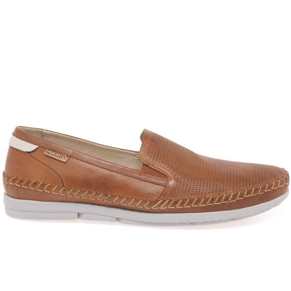 on leather Brown Mens Pikolinos slip 'Altet' shoes qROw7BXwx