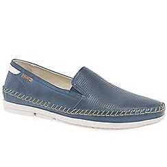 Pikolinos - Navy leather 'Altet' Mens slip on shoes