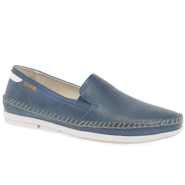 leather Navy slip on 'Altet' Mens shoes Pikolinos Rwq0UapU