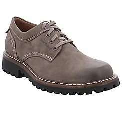 Josef Seibel - Grey leather 'Chance 37' casual lace up shoes