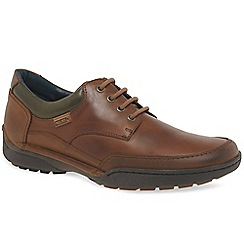 Pikolinos - Tan leather 'Estocolmo' mens lace up casual shoes