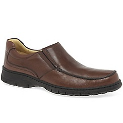 Anatomic & Co - Brown leather 'Rodrigo' mens casual wide fit shoes